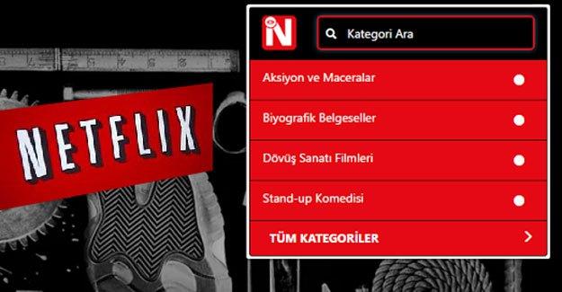 Netflix Gizli Kategorilere Nasıl Erişilir?