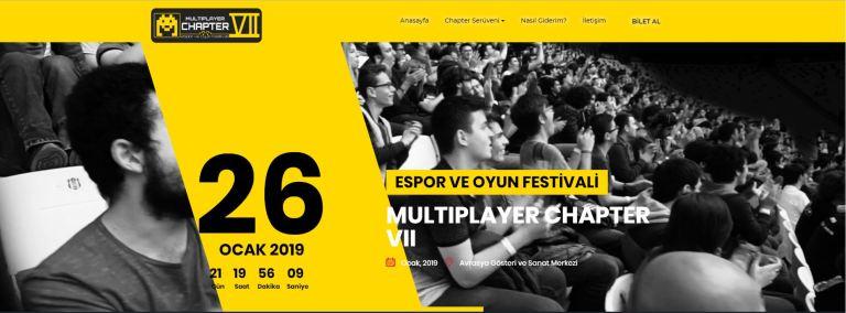 Multiplayer Chapter VII: E-spor ve Oyun Festivali Yaklaşıyor!