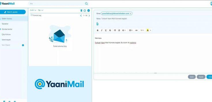 Turkcell Yaani Mail Aktifleştirildi