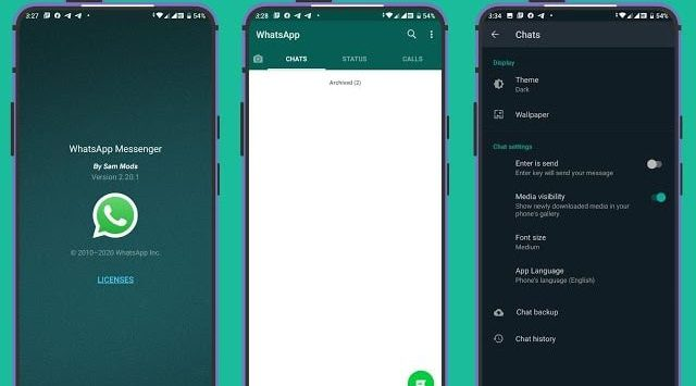WhatsApp Base 2.20.55 (Stabil Dark Mod) APK