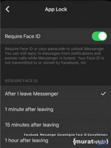 Facebook, Messenger Güvenliğine Face ID Güncellemesi