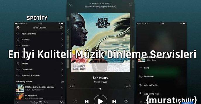 En İyi Kaliteli Müzik Dinleme Servisleri