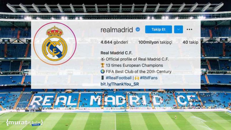 Real Madrid, Instagram'da 100 Milyon Takipçiye Ulaştı