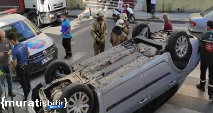 Sürücüsüz Otomobil Takla Attı