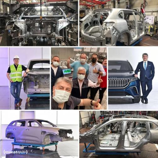 Yerli Otomobil Fabrikada Görüntülendi!