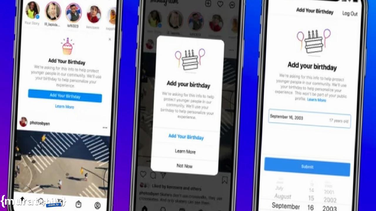 Instagram, Kullanıcılarından Doğum Tarihi İsteyecek