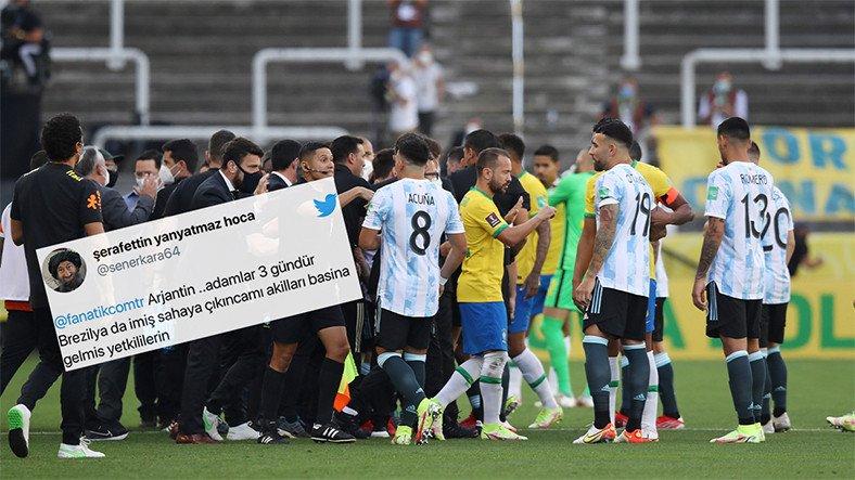 Askıya Alınan Brezilya-Arjantin Maçına Gelen Tepkiler