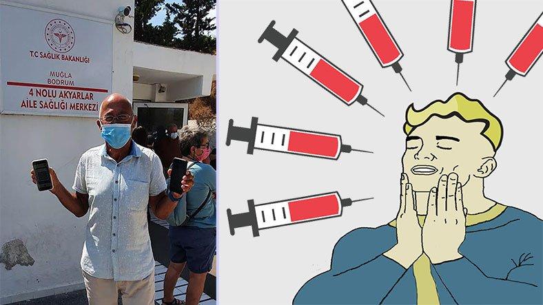 Bir Vatandaş, 2 Kez Almanya'da, 4 Kez de Türkiye'de Aşı Oldu