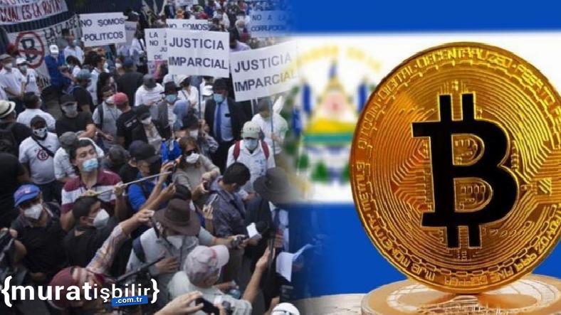El Salvador'da İlk Günden 'Bitcoin' Protestosu Başladı