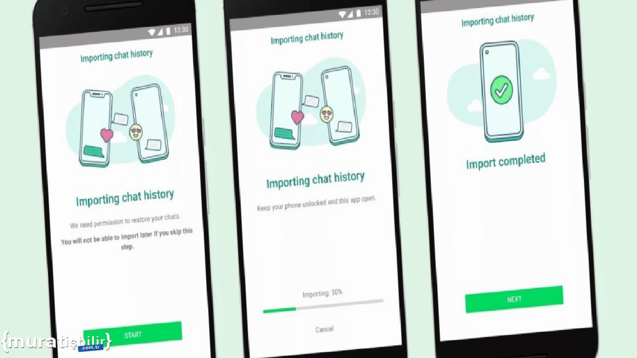 iOS'tan Samsung Telefonlara WhatsApp Transferi Artık Mümkün
