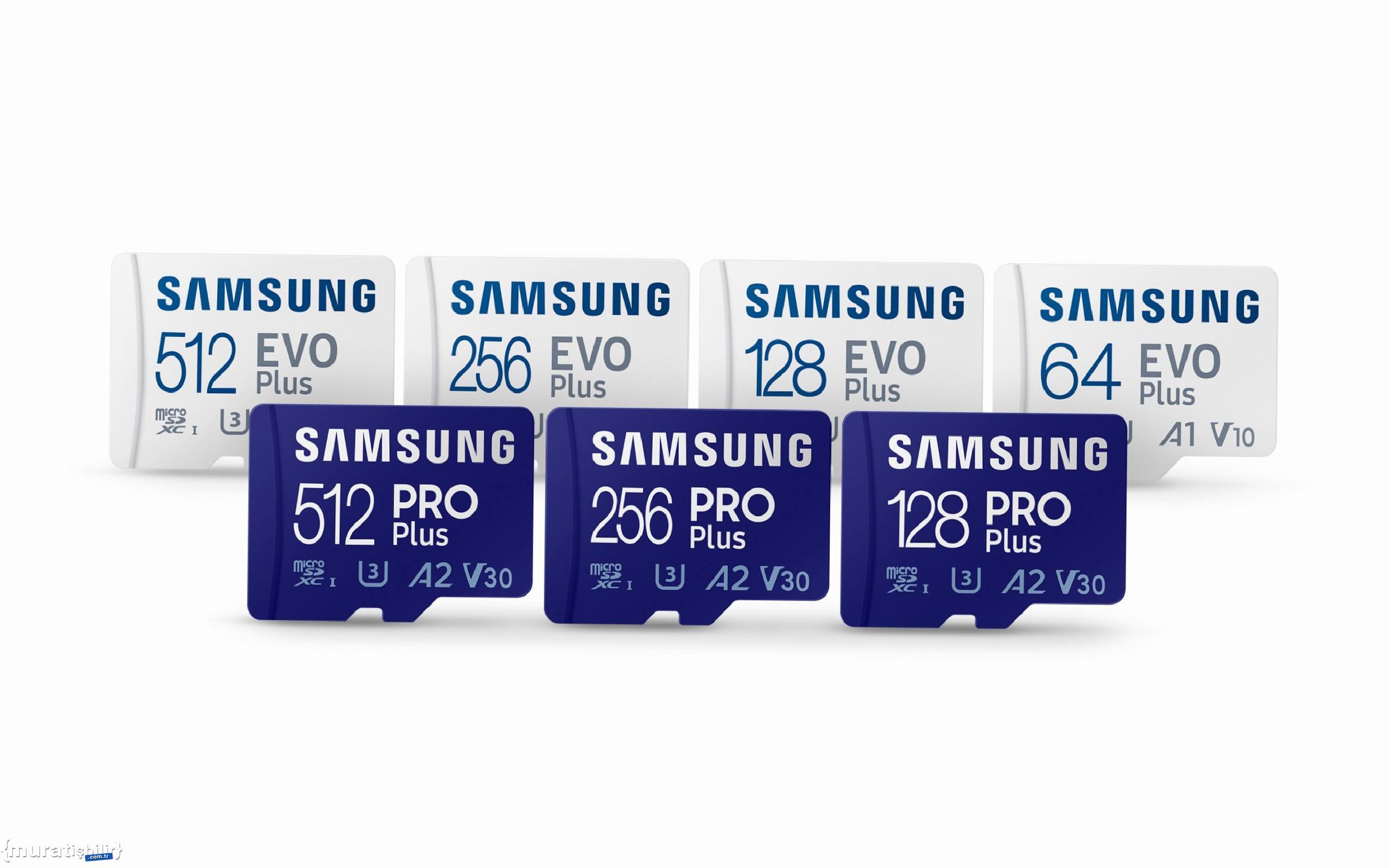 Samsung, PRO Plus ve EVO Plus Mikro SD Kartlarını Pazara Sunuyor