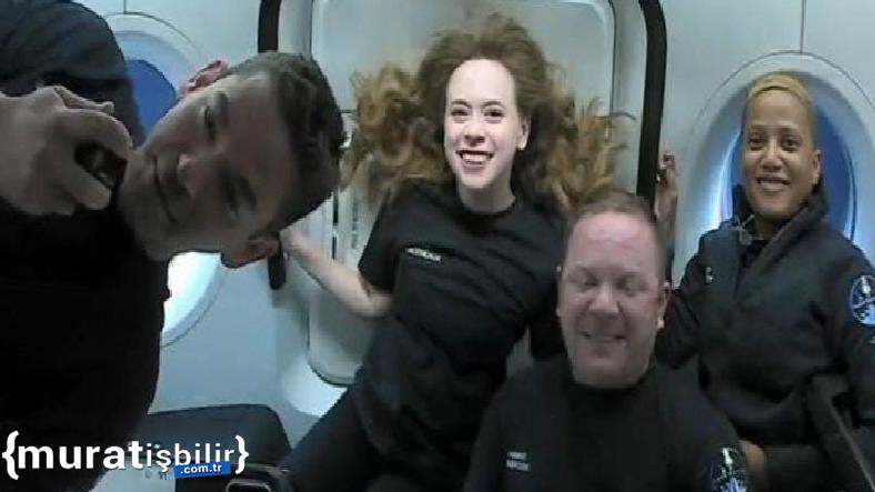SpaceX'in Uzaya Gönderdiği Dört 'Turist'ten İlk Fotoğraflar