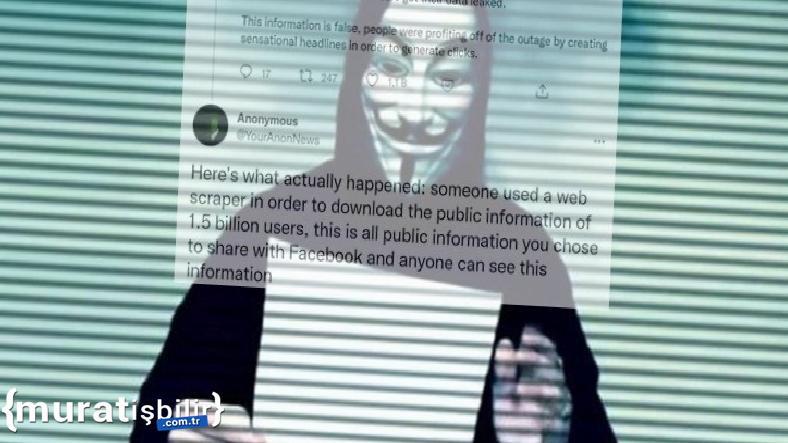 Anonymous'tan 'Facebook Verileri' Hakkında Önemli Açıklama