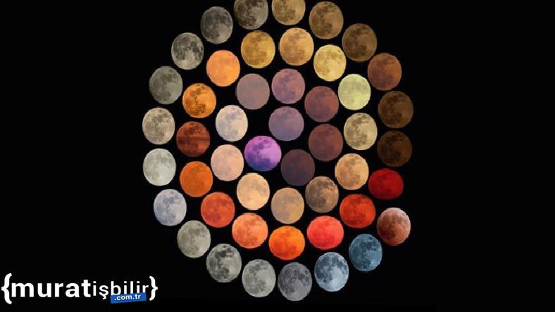 Bir Fotoğrafçı Ay'ın 48 Farklı Rengini 10 Yılda Kaydetmiş