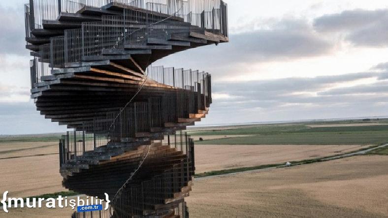 Danimarka'da Bataklıktan Yükselen DNA Şekilli Gözlem Kulesi